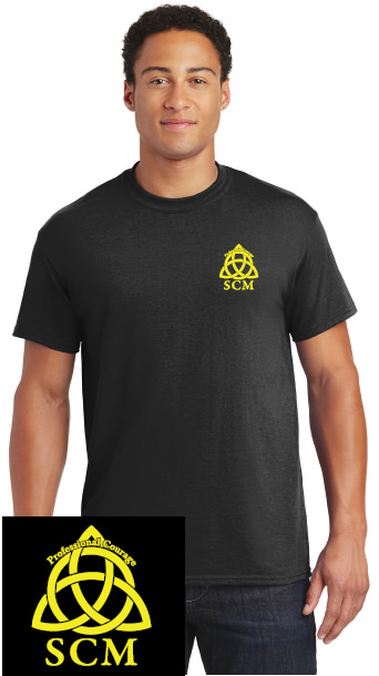 Pro Courage Black T neon logo