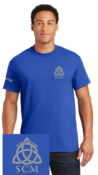 Pro Courage Royal Blue T silver logo